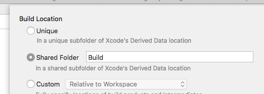 Working Directories and Build locations with Xcode 9 and C++