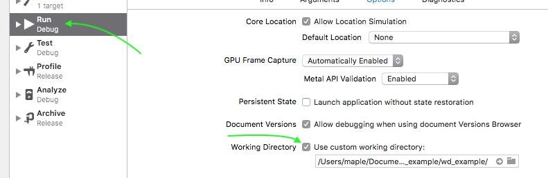 Working Directories and Build locations with Xcode 9 and C++ – MMquant